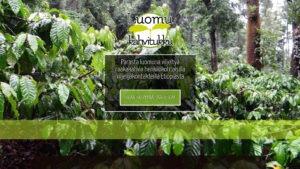 Luomu Kahvitukku Oy:n etusivu desktop -näkymässä