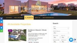 Proproperties.pro etusivu desktop -näkymässä