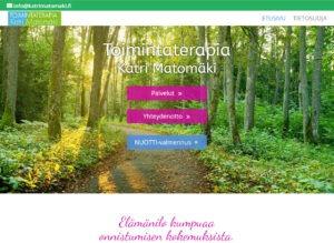 Toimintaterapeutti Katri Matomäki sivusto desktop