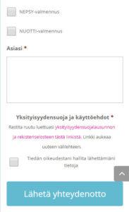 Toimintaterapeutti Katri Matomäki sivusto yhteyenottolomake
